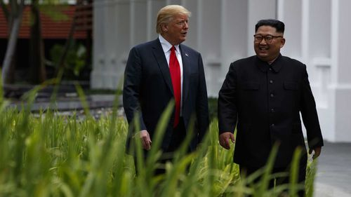 Donald Trump and Kim Jong-un. (AAP)