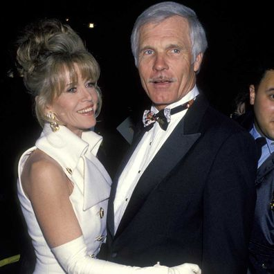 Jane Fonda and Ted Turner at the Academy Awards in 1993.