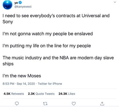 Kanye West, Twitter rant, tweets, new Moses