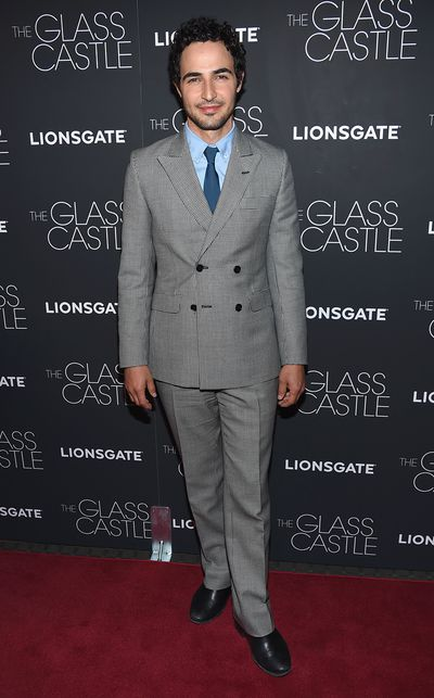 Zac Posen&nbsp;at the premier of&nbsp;<em>The Glass Castle</em>.