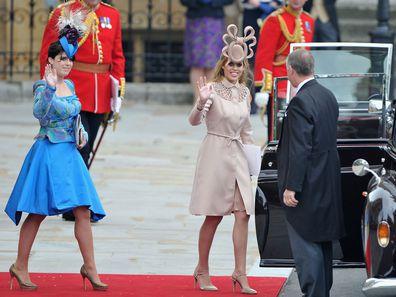 Princess Beatrice and Princess Eugenie at the 2011 royal wedding