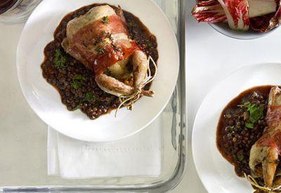 Thyme-roast quail