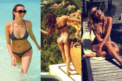 <br/>We're calling it! January is definitely the month of the bikini babe. <br/><br/>Want proof? Check out our 50 fave taut and toned celebs frolicking in the sun and surf.... and try not to get too jealous.