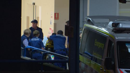 The 29-year-old was rushed to Westmead Hospital for emergency surgery.