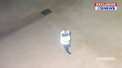 The man hid his face in full view of security cameras. Picture: 9NEWS