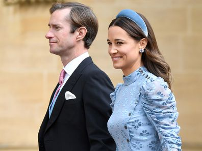James Matthews and Pippa Middleton attend the wedding of Lady Gabriella Windsor and Thomas Kingston at St George's Chapel on May 18, 2019.