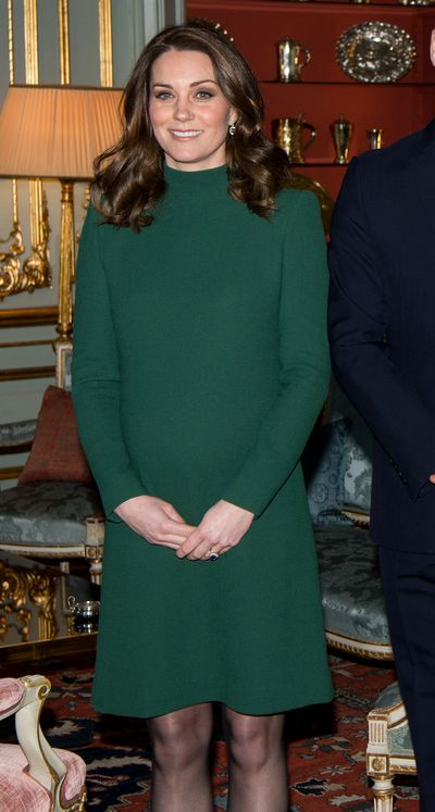 """When it comes to maternity clothing the Duchess of Cambridge&rsquo;s third pregnancy has induced cravings for colours of the rich, warm variety.<br /> <br /> For a meeting with the Swedish royal family as part of her official royal tour with Prince William, the 36-year-old opted for an eye-catching emerald green dress by Catherine Walker.<br /> <br /> The fitted frock featured a high neckline and long sleeves but an above-the-knee hemline kept it feeling youthful.<br /> <br /> The Duchess isn&rsquo;t the fashion-forward celebrity to embrace the regal shade of green. <br /> <br /> Reese Witherspoon was a stand-out on the red carpet at last week&rsquo;s <a href=""""https://style.nine.com.au/2018/01/22/09/12/sag-awards-2018-red-carpet-fashion"""" target=""""_blank"""">Screen Actors Guild Awards</a> in a custom Zac Posen gown, which she paired with Jimmy Choo heels and Gismondi jewels.<br /> <br /> And model Jesinta Franklin made the shade her own for an appearance at the Magic Millions race day earlier this month.<br /> <br /> We&rsquo;re seeing this bright, bold colour not only in fashion but jewellery and interiors too. Something tells us this will be the colour to beat in 2018.<br /> <br /> Click through as we take you on a tour of Emerald City and check out some of your favourite celebrities nailing the colour as well as some pieces you can add to your own wardrobe.&nbsp;"""