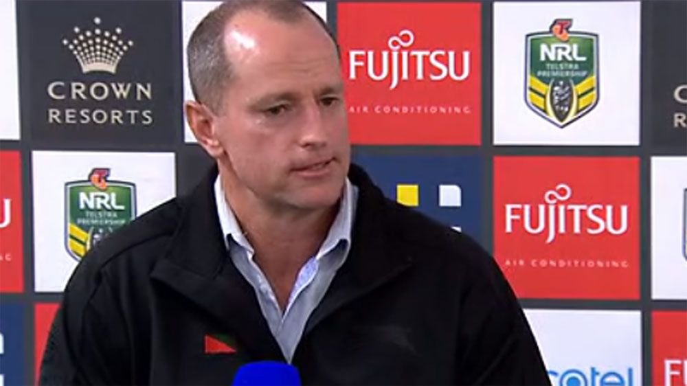 South Sydney coach Michael Maguire defends under-fire Burgess twins