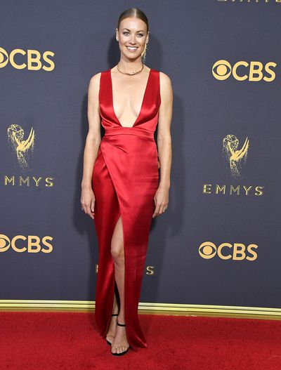 Yvonne Strahovski at the 69th Annual Primetime Emmy Awards in Los Angeles, September 2017