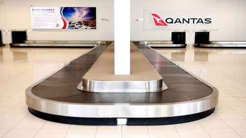 An empty baggage claim at Adelaide Airport, as the Australia aviation industry is rocked by the coronavirus pandemic.