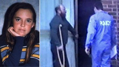 Chilling video reveals how close teen's killer came to being caught
