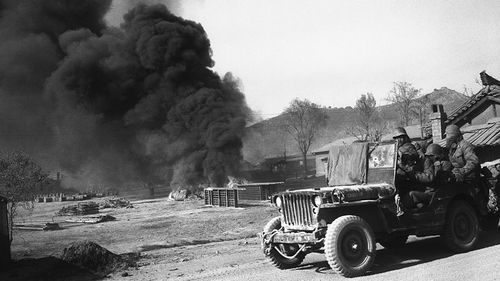 Desfor was on the frontline when US forces entered the Korean War in 1950. (AP).