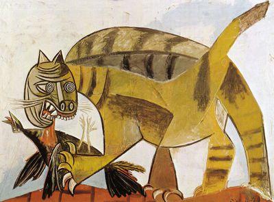 Cat Devouring A Bird, Pablo Picasso (1939)