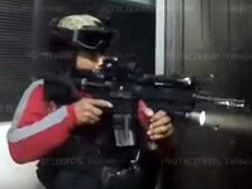 """Heavily armed security forces took part in the arrest of """"El Chapo"""" last year."""