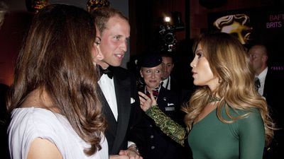 Prince William and Kate Middleton with Jennifer Lopez