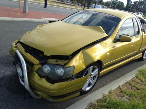 The other vehicle involved in the accident. (9NEWS)