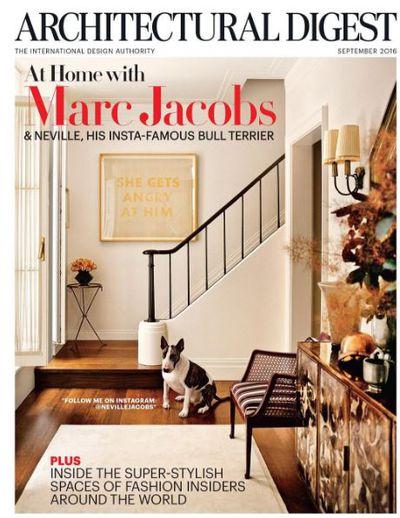 Neville on the cover of <em>Architectural Digest</em>