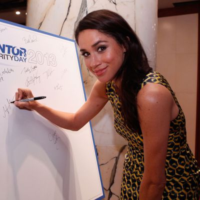 Meghan Markle at a charity event in New York, September 2013