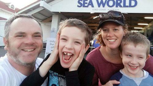Leighee and Philip Eastbury with their sons Hayden and Jake. (AAP)