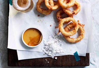 Make: Beer-battered onion rings