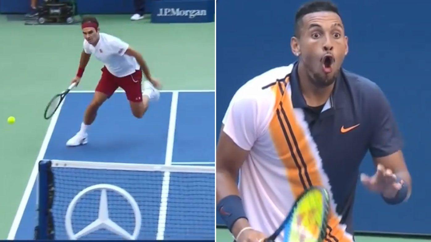 Jaw-dropping Federer winner leaves Kyrgios in awe