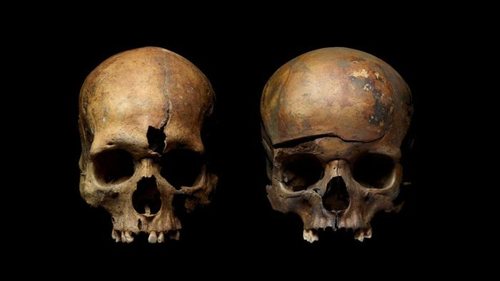 Skulls show traces of violence. Credit: Institute of Archaeology, Russian Academy of Sciences