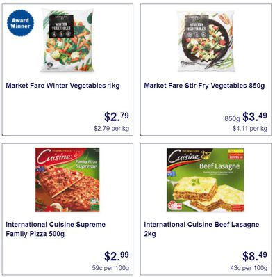 This week at Aldi you can pick up some great frozen specials.