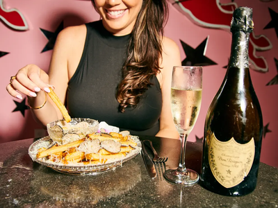 World's most expensive fries are blanched in Champagne and topped with gold dust