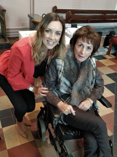 Louise McCann with her late mum Catherine McCann