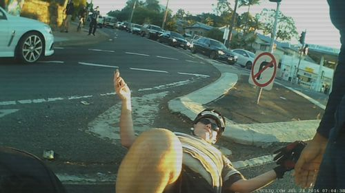 Cyclist Geoffrey James was riding to work in east Brisbane when he was knocked off his bike. (Bicycle Queensland)