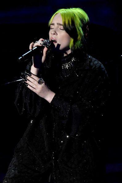 Billie Eilish singing 'Yesterday' at The Oscars.