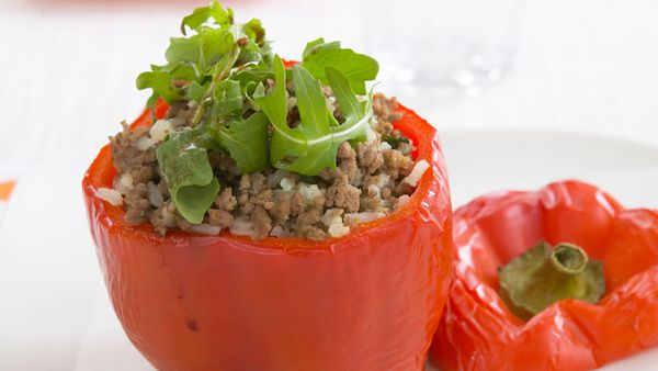 Rice-stuffed capsicum