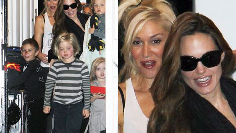 Angelina Jolie visits Gwen Stefani's home for a kiddie play date