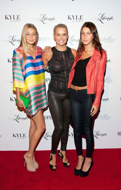 This 2012 shot of the baby Hadids makes us swoon! The then TV personalities Gigi and Bella as well as their mum Yolanda Hadid attend the Beverly Hills Lifestyle Magazine Fall 2012 Launch Party. Image: Getty.