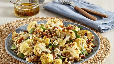 "Recipe: <a href=""http://kitchen.nine.com.au/2018/01/29/15/35/superblend-cauliflower-salad"" target=""_top"" draggable=""false"">Cauliflower salad</a>"
