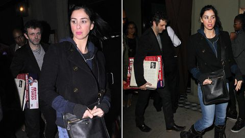 We didn't see this one coming! Sarah Silverman 'dating' Masters of Sex' Michael Sheen