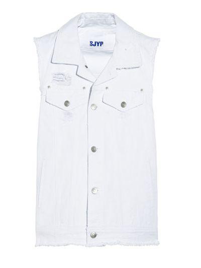 """<a href="""" http:="""" """"="""""""" www.net-a-porter.com="""""""" au="""""""" en="""""""" product="""""""" 518363="""""""" steve_j_and_yoni_p="""""""" distressed-denim-vest=""""""""> Distressed Denim Vest, $372.31, Steve J &amp; Yoni P</a>"""