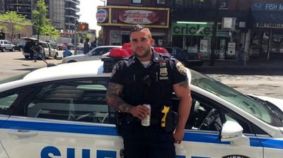 "<p>A New York City policeman has been winning fans and tempting people into breaking the law, all because of his ridiculously good looks.</p><p> Miguel Pimentel has become a viral media star in the past week, thanks to the sexy selfies he has been posting on Instagram.   </p><p> A photo of the tattooed, 33-year-old former Marine and avid body builder leaning seductively against his squad car had thousands feeling hot under the collar. </p><p> ""Excuse me while I commit a felony,"" a Twitter user posted. </p><p> ""Frisk me, I've been very, very bad, officer,"" another tweet by bitchingqueen read. </p><p> </p>"