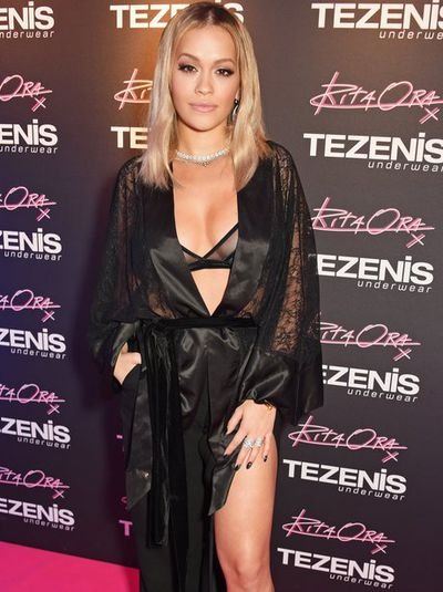 Singer Rita Ora at the store launch for Tezenis in Lisbon, Portugal, in November, 2017
