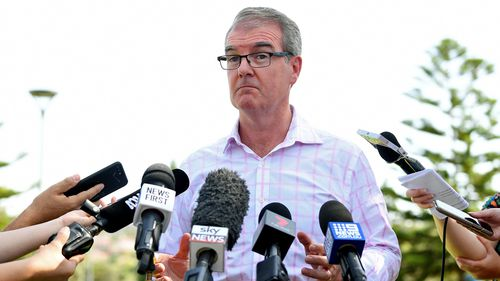 NSW Leader of the Opposition Michael Daley speaks to the media at Maroubra Beach, Sydney, Sunday, March 24, 2019. Mr Daley conceded defeat of the 2019 New South Wales Election on Saturday night after taking just one seat from the coalition and winning 33 per cent of the primary vote.