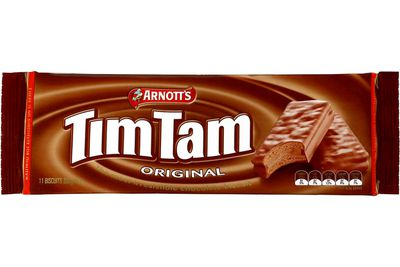 Tim Tam — 8.2g sugar per biscuit