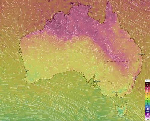 Parts of Australia sweltered yesterday as an early Spring burst of hot air caused the warmest temperatures in some parts, this early into the season, in more than a decade.