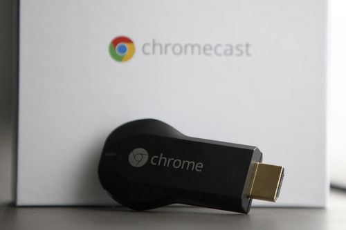Chromecast is a device that plugs into a television. Picture: AAP