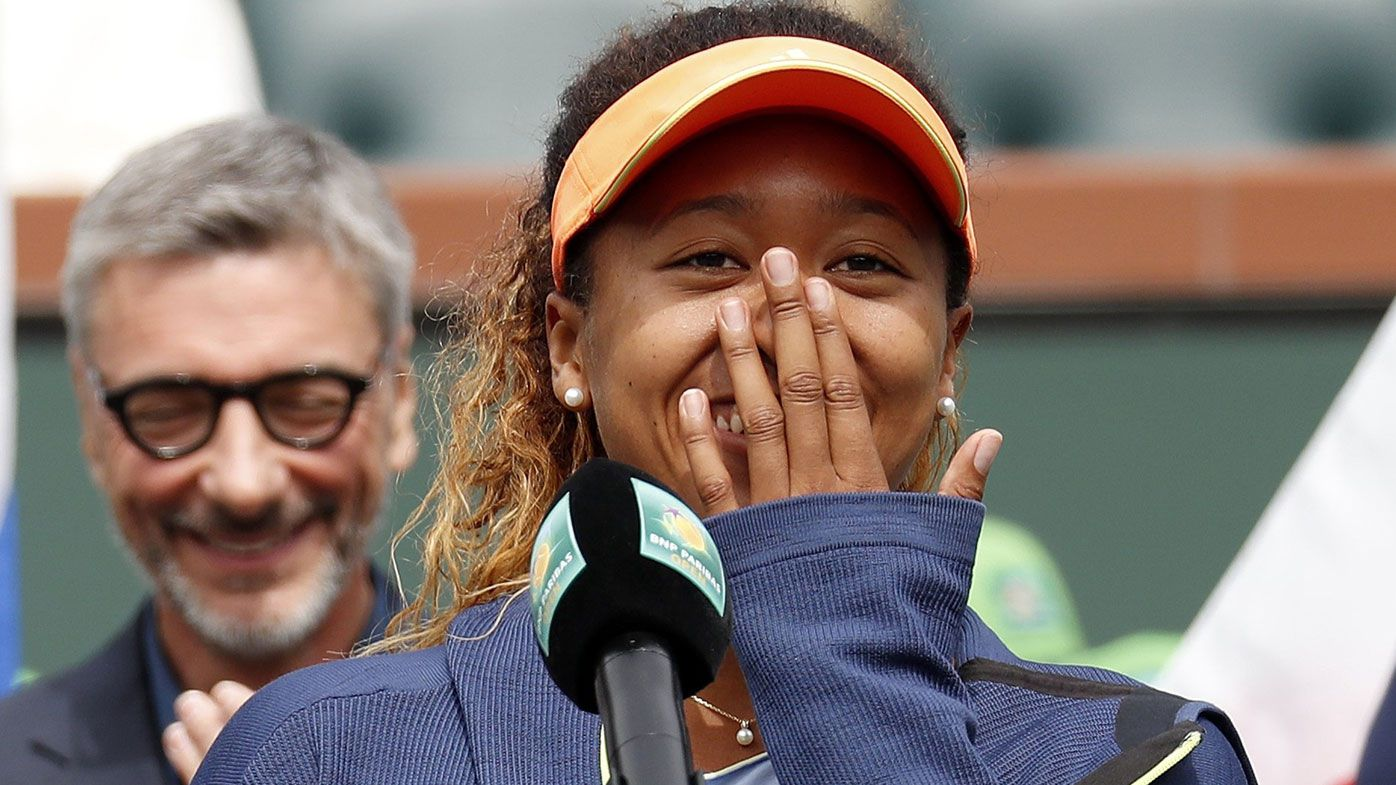 Japan's Naomi Osaka delivers 'worst acceptance speech' after winning first WTA title at Indian Wells