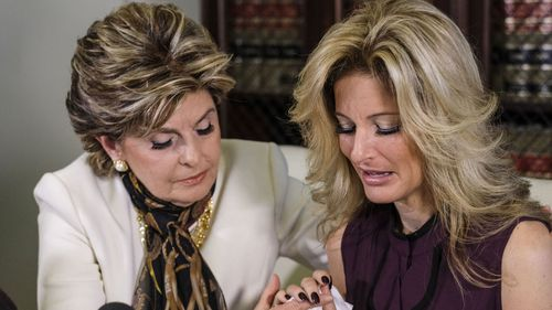 Lawyer Gloria Allred with Summer Zervos. (AAP)