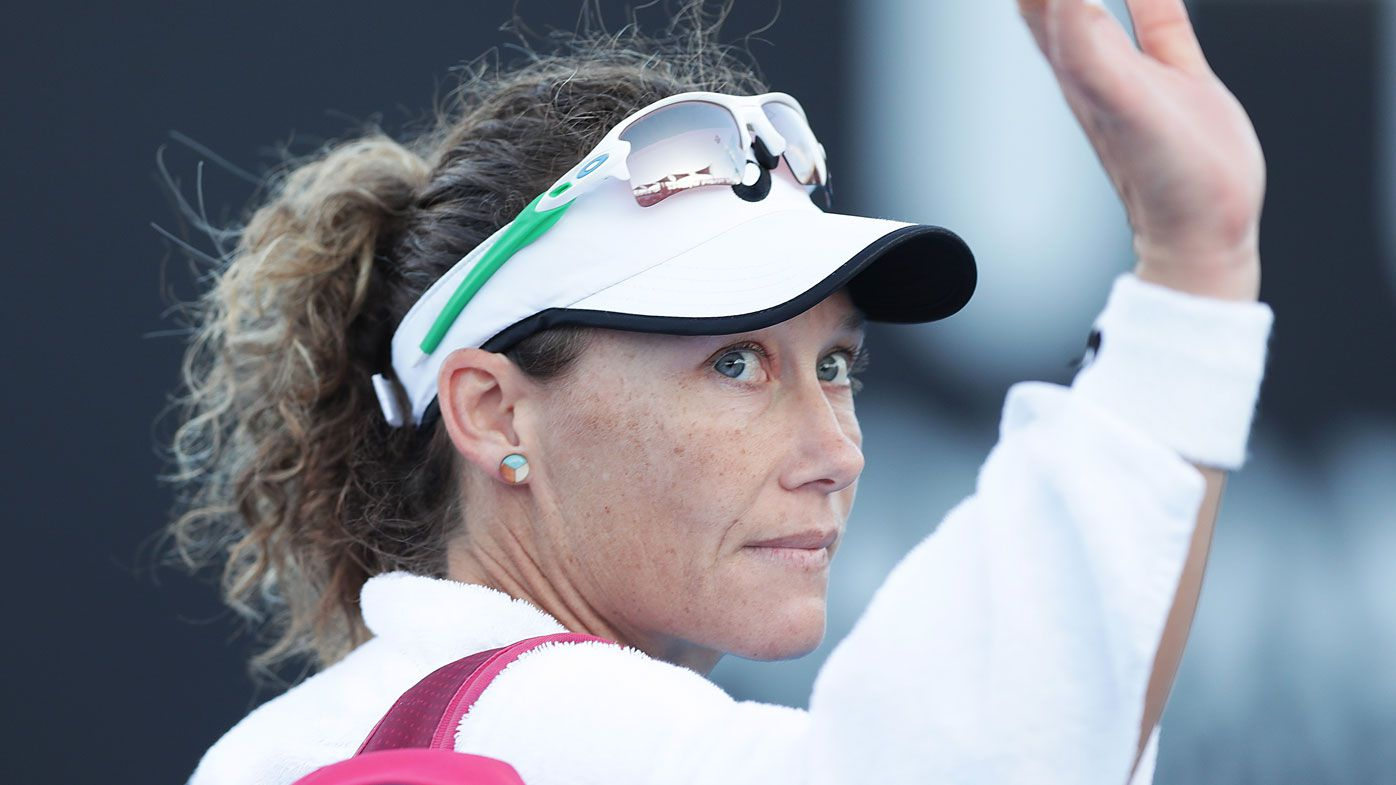Samantha Stosur exits Hobart International early after straight sets loss