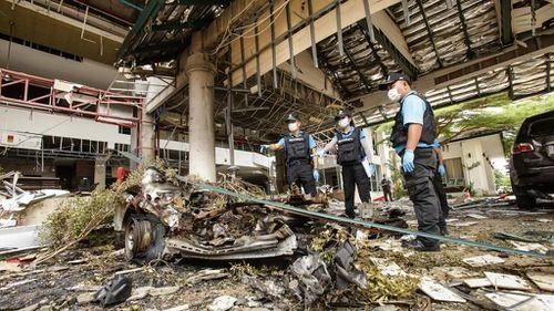 First tourist town blast suspect arrested in Thailand