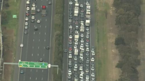 A pedestrian has been killed after being struck by a vehicle on the Princes Freeway at Laverton, south-west of Melbourne.