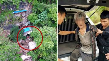 A drone found Song Jiang's mountain cave hideout, after 17 years on the run.