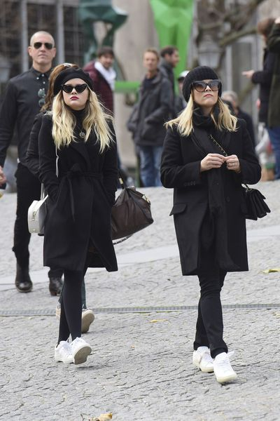 Reese Witherspoon and daughter Ava, now 18, sporting their matching look.